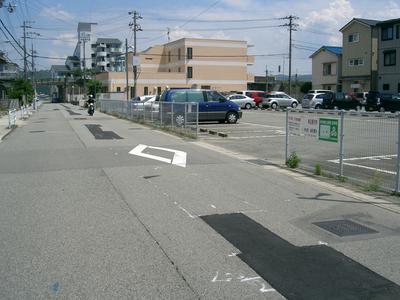 駐車場の看板の様子