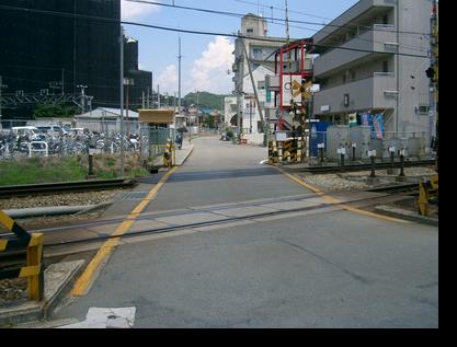 神戸電鉄踏切